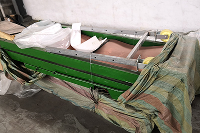 6米长折叠皮带输送机发往海南