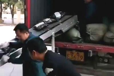 快递装车小型皮带输送机发往广东