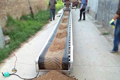 建筑垃圾装车用小型皮带输送机